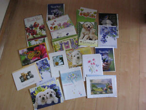 10 assorted greeting cards