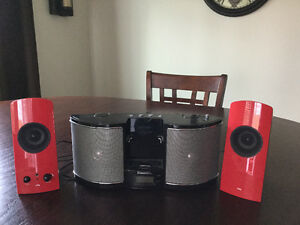 iPod Dock and speakers