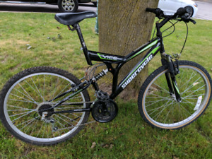 Supercycle 18 speed dual suspension mountain bike
