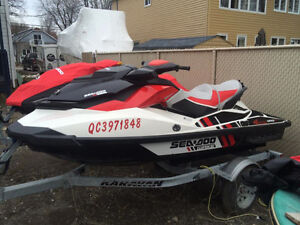 À VENDRE !!!!  SEA DOO 2013 WAKE 155 3 PLACES !!!