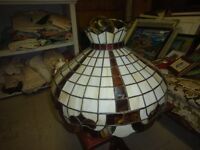 Circular Tiffany Stained Glass Ceiling Light D257