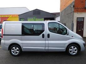 Vauxhall Vivaro SWB Sportive 6 seat factory fitted crew cab 63 plate (2)