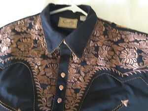 SCULLY Mens Embroidered Western Shirt/s NEW!  $75.00 each