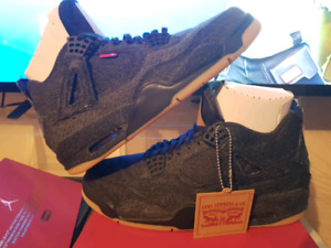 Levis Black Denim Jordan 4s Size 10.5