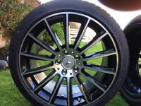 """Original AMG Mercedes 19"""" alloys with tyres !"""