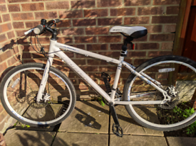 Ladies Carrera Hybrid Bike White 16 inch frame