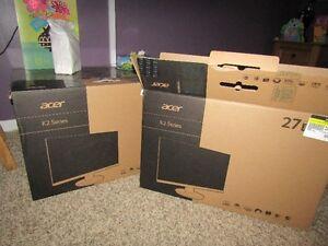 """Acer Ebmid 27"""" led 1080P monitor open box vga/dvi/hdmi #K272NL"""
