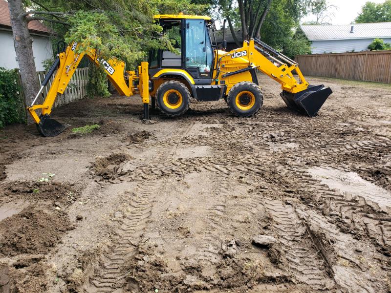 Backhoe Rental Excavation Services Excavation