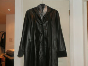 Manteau cuir dames Dimitri leather coat 3 season/saison (2xl)