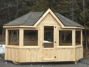 Garden/storage sheds, garages and gazebos