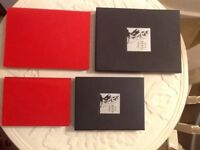 📕 beautiful red leather note book address book brand new in boxes