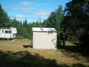 Trailer and Camping Sites for Rent on Buck Lake in Huntsville