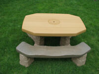 Kids Picnic Table with Umbrella - Step 2