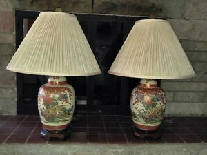 Ginger Jar Shaped Table Lamps