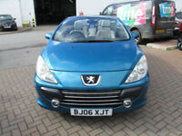 Peugeot 307 CC 2.0HDi S Convertible**ONLY 41,000 MILES**FSH**FULL GREY LEATHER**