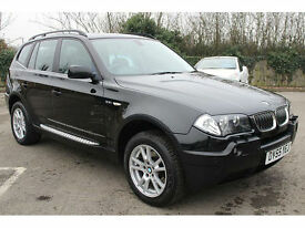 BMW X3 2.5i 2005 SE 55 REG PAN ROOF FULL LEATHER HPI CLEAR