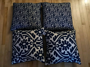 4 feather cushions