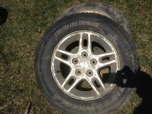 Jeep rims with snows