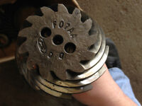 """Set of 8.8"""" 3.08:1 ratio Ford gears."""