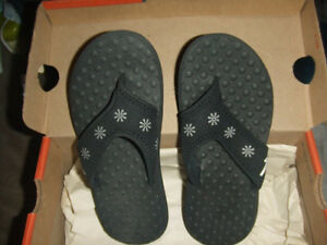 GIRLS NIKE AQUA MOTION THONG SANDALS YOUTH 1Y BLACK Beach~Pool