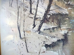 "Winter Landscape Signed,Numbered,  by Paul Mathews, ""Winter Sun"" Stratford Kitchener Area image 7"
