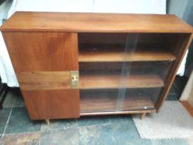 Vintage Teak bookcase display cabinet