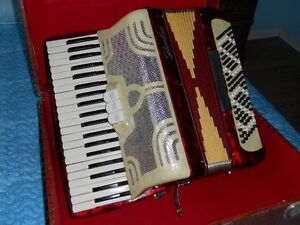 Silvertone Accordian with case