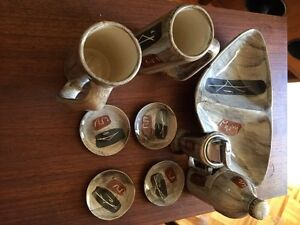 Set complet retro porcelaine 50s  pour table a cafe ou bar