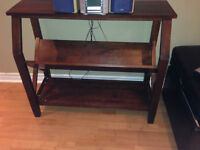 LCD TV stand with book shelf -wood