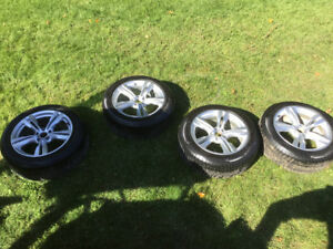 "4 BMW X5 M 19"" Rims with Pirelli Run Flat Winter Tires"