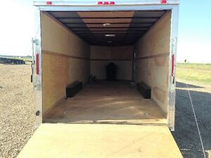 2017 24' V-Nose Enclosed Trailer with 7' ceiling