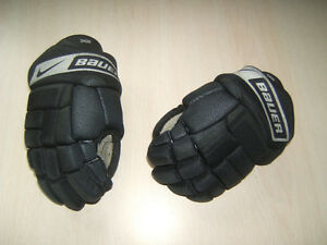 Vapor Black Youth Hockey Gloves 10""