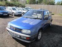 1995 Volkswagen Golf Mk3 1.4 Petrol Manual 3 Door Hatchback Blue VAG Classic VW