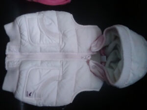H&M Baby hooded vest & Pink Baby gap hooded sweater vest.