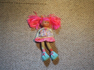 Corolle pink hair doll