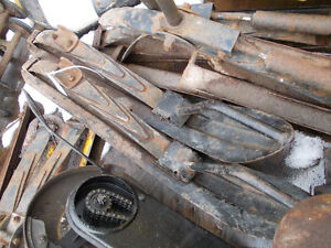 1972 Ski-doo Olympique Skis with leaf springs -
