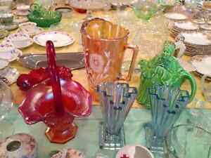Depression Glass, China, Glassware, Collector Spoons, Avon Perfu London Ontario image 4
