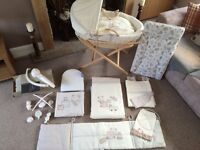 Mamas and Papas 'Bedtime Hugs' complete bedroom set, play mat and electronic rocking chair