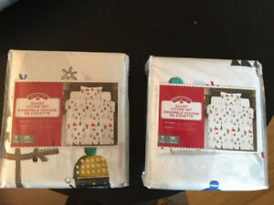 CHRISTMAS TWIN MATCHING DUVET COVERS - NEW