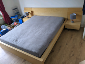 IKEA Malm King-size Bed, Mattress and Side Tables