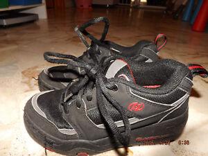 souliers a deux roues heeleys