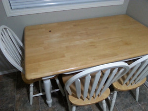 Double size mattress plus table and chairs