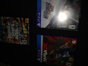 GTA V, NEED FOR SPEED, and NBA 2K15