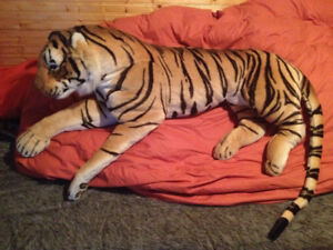 Huge plush Tiger measures over 5 feet long! From smoke free home