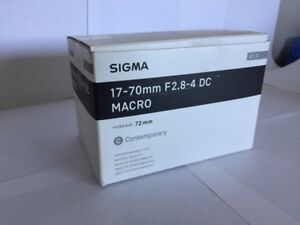 Sigma 17-70mm F2.8-4 DC Contemporary Lens - for Canon