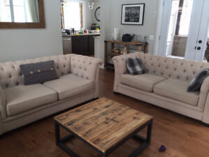 2 identical sofas-selling as a set only