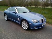 2006 CHRYSLER CROSSFIRE COUPE 3.2 AUTO, BLUE WITH DARK GREY LEATHER, AIRCON