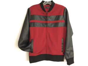 Bomber Jacket red / black
