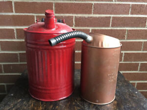 Lot of 2 - Vintage Gas Oil Cans