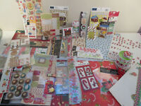 Huge Lot of 113 Christmas Scrapbooking Items